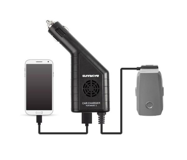 DJI Mavic 2 Pro/Zoom - Anti-Skip 2in1 Car Charger 1